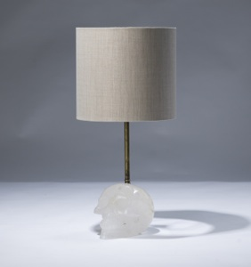 single small clear crystal 'skull' lamp (T3055)