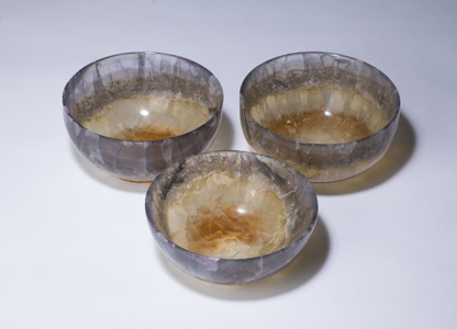 small brown 'blue john' bowl (T3344)