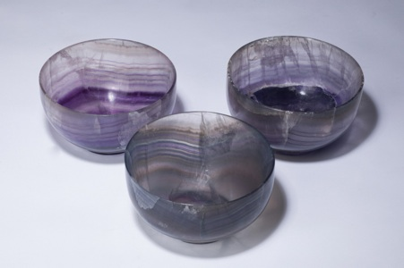 small purple 'blue john' bowl (T3345)