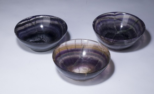 large purple 'blue john' bowl (T3346)