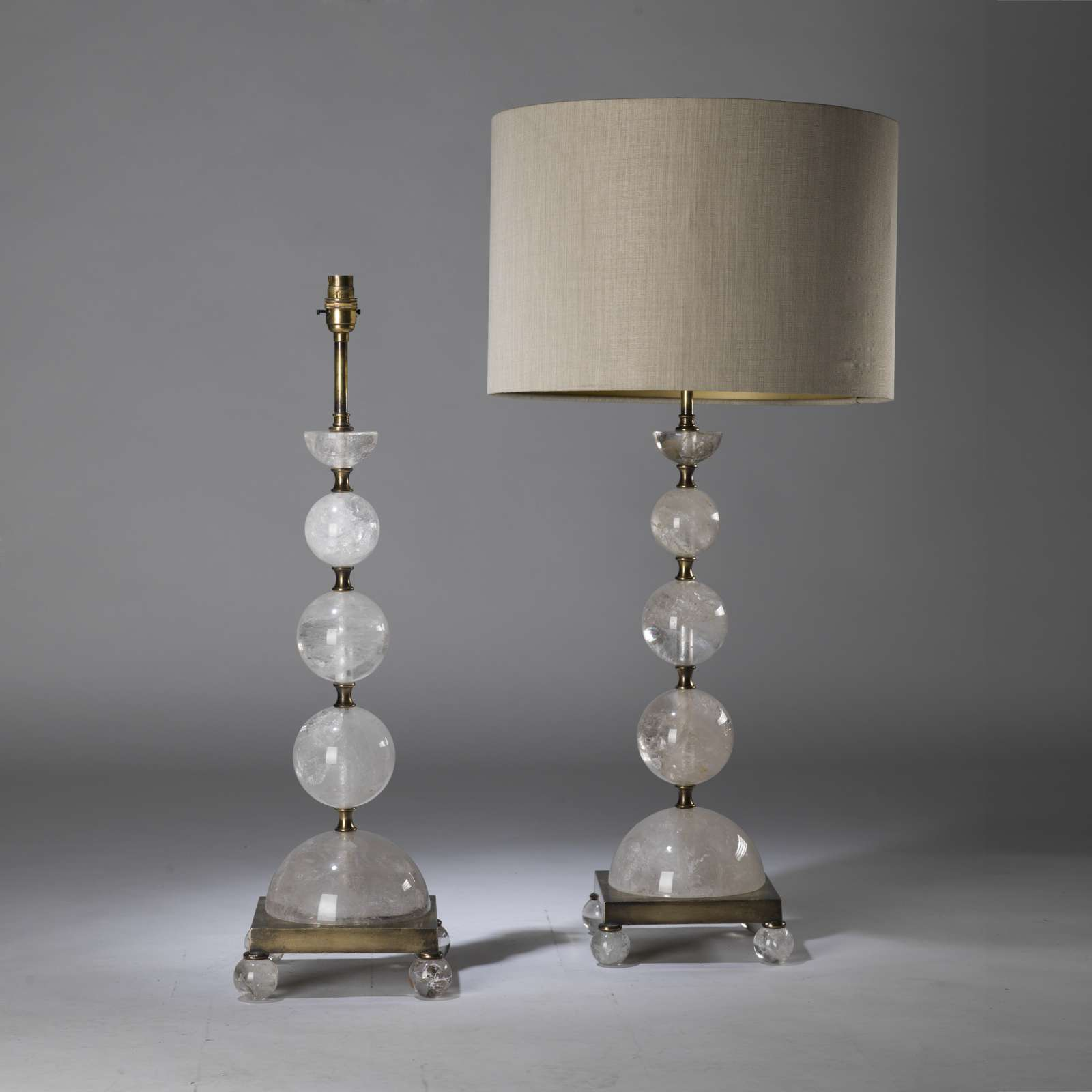 light glass stacked shade lamp ball crystal floor