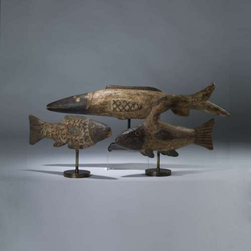 Antique Wooden Bozo African Fish