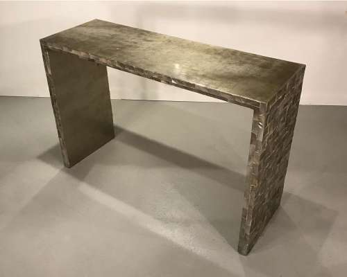Modern shell lacquer console table