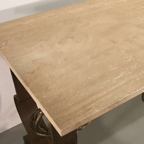 Modern wrought iron centre table with French 1940's design