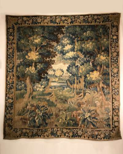 18th century Flemish tapestry of pastoral scene in good original condition and colour