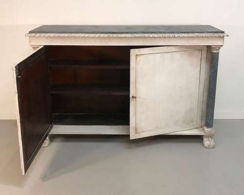 English chiffonier circa 1880 with recent paint finish