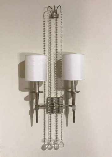 Pair of 1950's style silvered wall lights