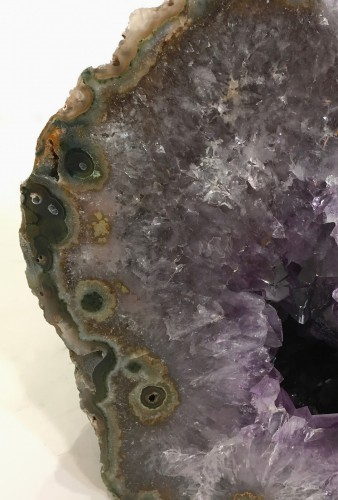 small amethyst geode cave