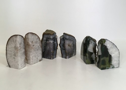 Pairs Of Agate Book-ends