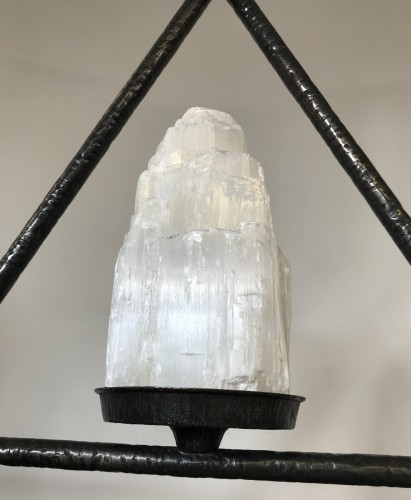 3 selenite chandlier