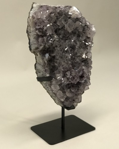 Large Piece Of Phantom Amethyst On Iron Stand