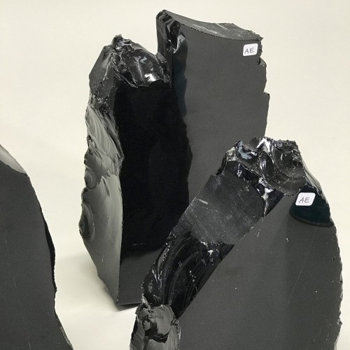 Chunks Of Obsidian With One Polished Face