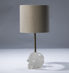 single small clear crystal 'skull' lamp (T3056)