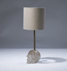 single small clear crystal 'skull' lamp (T3058)