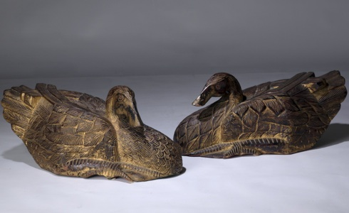 pair of 19th Century wooden ducks (T3258)