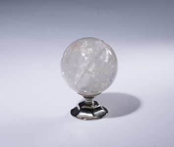 rock crystal staircase finial on nickel stand (T3424)