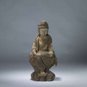 Wooden chinese buddha figure (T4077)