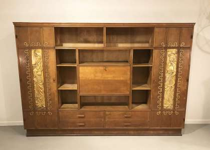 Italian bureau bookcase circa 1940/1950 in style of Pier Luigi Colli (T4499)