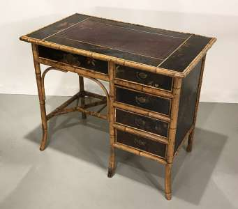 Bamboo desk/dressing table circa 1880 in fabulous condition (T4515)