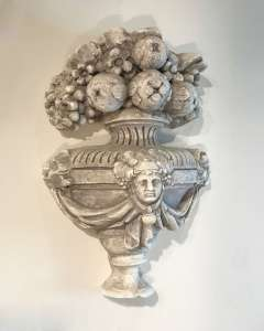 French plaster architectural urn ornament circa 1880 (T4539)