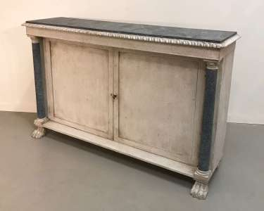 English chiffonier circa 1880 with recent paint finish (T4551)