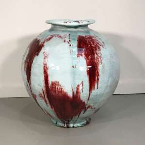 20th century ceramic vase with amazing glaze (T4558)