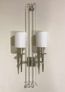 Pair of 1950's style silvered wall lights (T4564)
