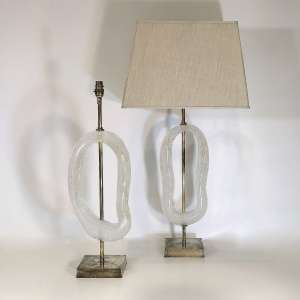 Pair of large clear glass