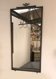 Wrought iron mirror in Mouses Back & silver finish (T4633)