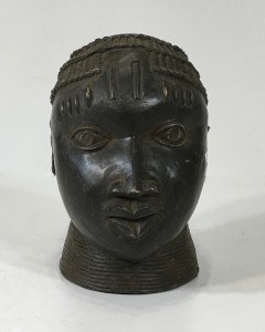 bronze benin metal decorative head (T4787)