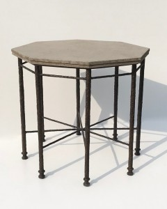 textured octagonal centre table (T4835)